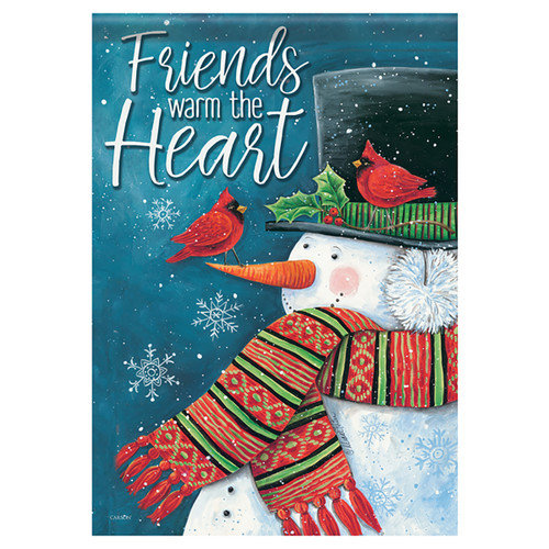 Carson Christmas Glittered Garden Flag - Friends Warm the Heart