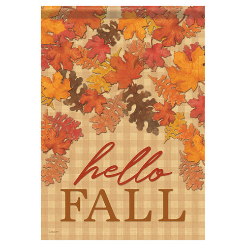 Carson Fall Garden Flag - Leaves Falling