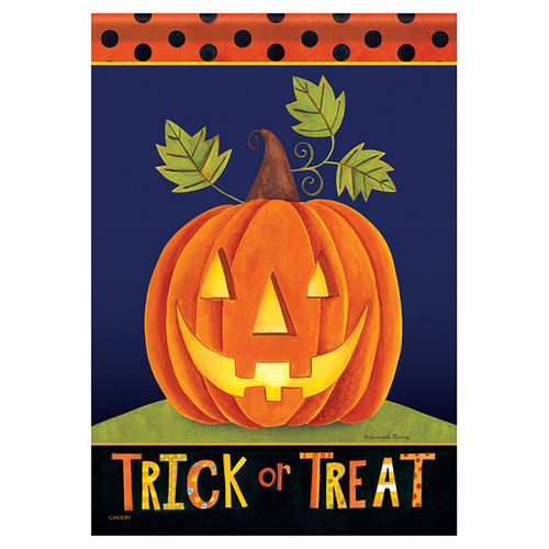 Carson Halloween Garden Flag - Trick or Treat Jack