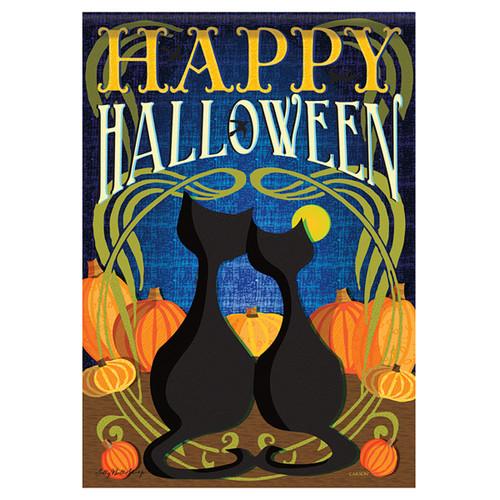 Carson Halloween Banner Flag - Black Cats Halloween