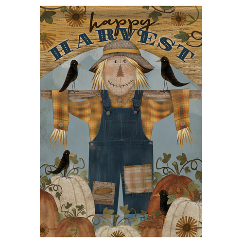 Carson Seasonal Banner Flag - Happy Harvest Scarecrow