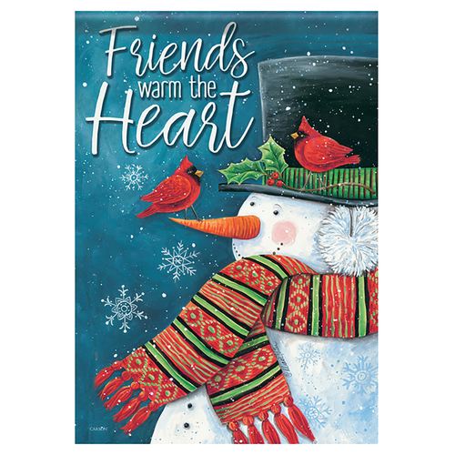 Carson Christmas Banner Flag - Friends Warm the Heart