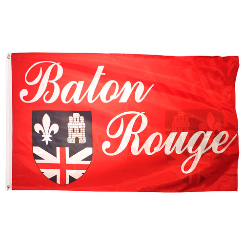 Baton Rouge City Flag 3ft x 5ft Printed Polyester