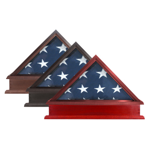 US Made Flag Case & Pedestal for 3' x 5' Flag