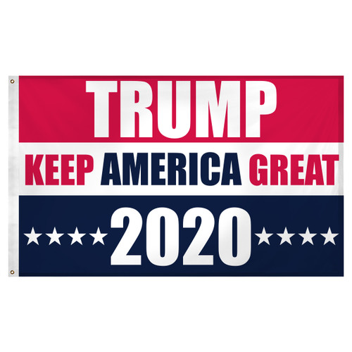 Trump Keep America Great 2020 Flag 3ft x 5ft Super Knit Polyester