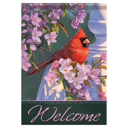 Bird Banner Flag - Evening Light Cardinal