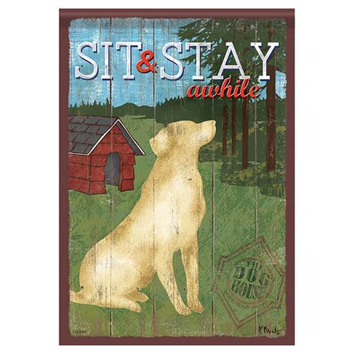 Animal Banner Flag - Sit & Stay