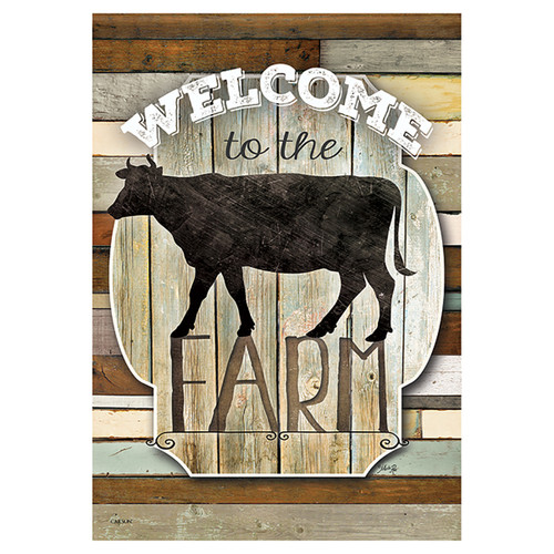 Animal Banner Flag - Welcome to the Farm
