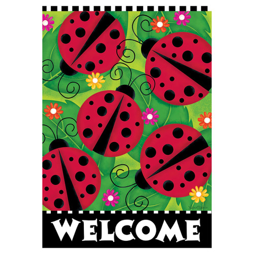 Welcome Banner Flag - Ladybugs