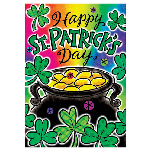 St. Patrick's Day Banner Flag - Pot of Gold