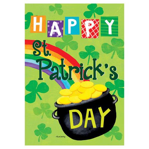 St. Patrick's Day Banner Flag - Gold St. Patrick's