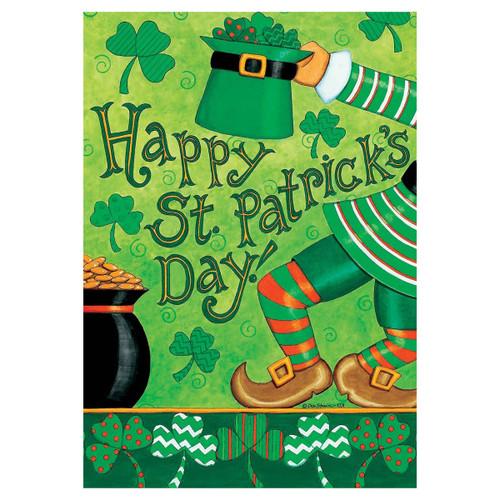 St. Patrick's Day Banner Flag - Leprechaun