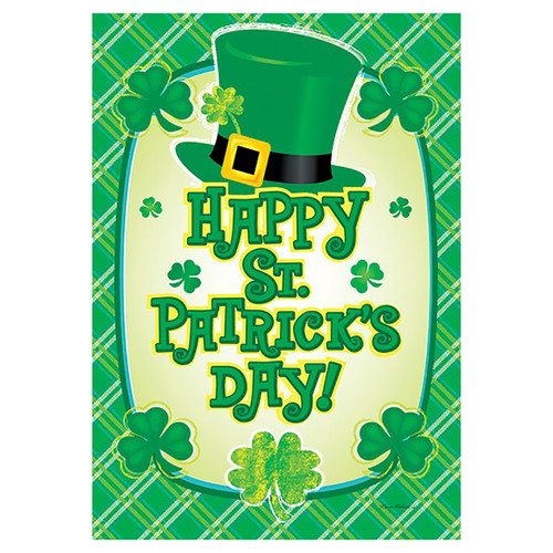 St. Patrick's Day Banner Flag - Happy St. Pat's Hat
