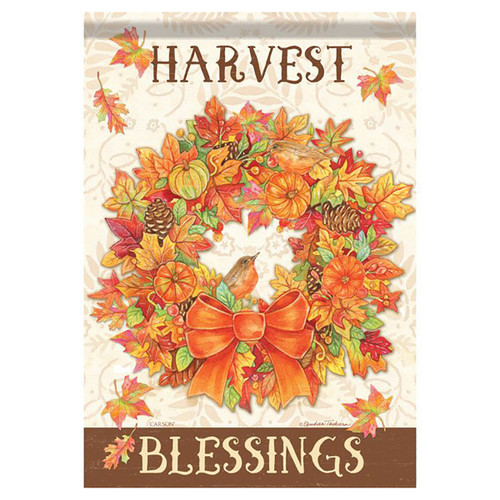 Thanksgiving Banner Flag - Harvest Wreath