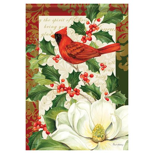 Christmas Banner Flag - Festive Floral