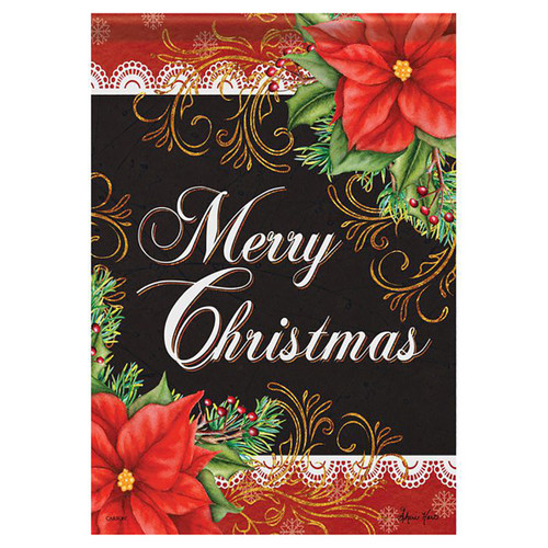 Christmas Banner Flag - Poinsettia Inspiration