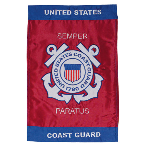U.S. Coast Guard Applique Garden Flag