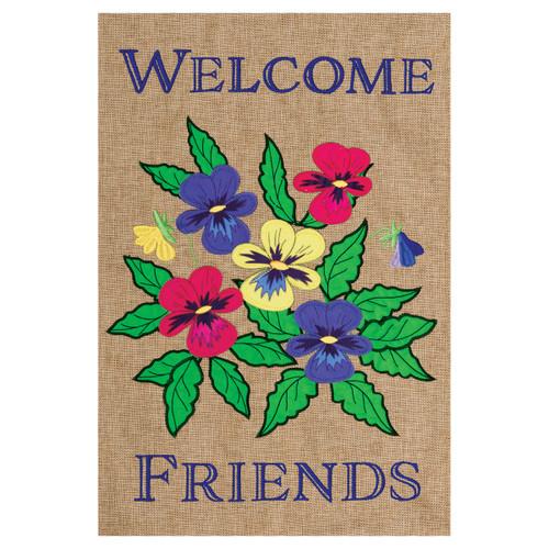 Welcome Garden Flag - Gerbera