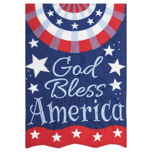 Patriotic Garden Flag - God Bless America