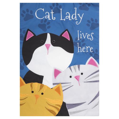 Everyday Garden Flag - Cat Lady