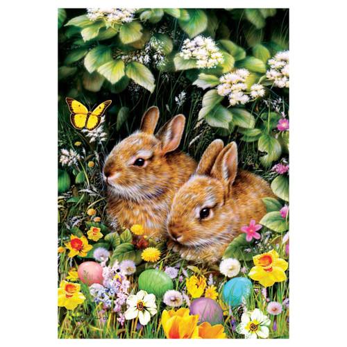 Easter Garden Flag - Spring Bunnies