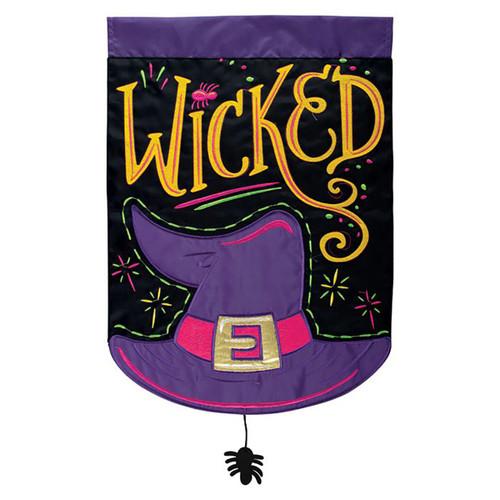 Halloween Applique Garden Flag - Wicked