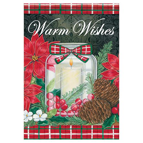 Christmas Garden Flag - Holiday Candle