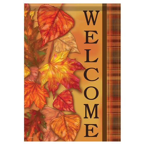 Fall Garden Flag - Cascading Leaves