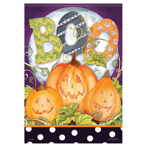 Halloween Garden Flag - Boo Moon