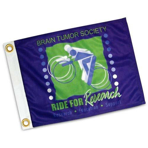 Custom Flag - 12x18in Super Knit Polyester. 3-Color. Double Sided