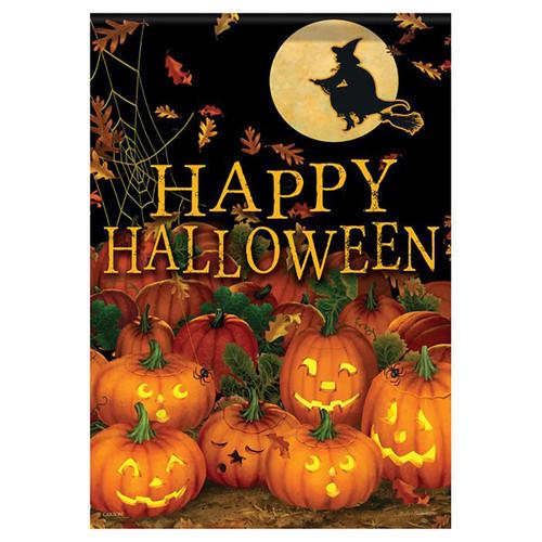 Halloween Garden Flag - Field of Jack-O-Lanterns