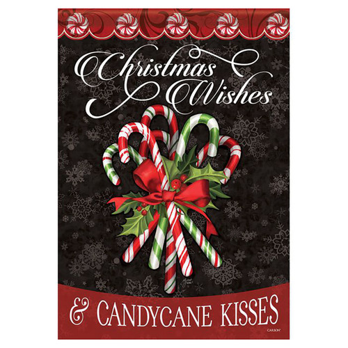 Christmas Garden Flag - Candy Cane Bouquet