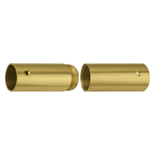 """Brass Screw Joints for Wood Poles - Polished Brass - 1 1/8"""""""