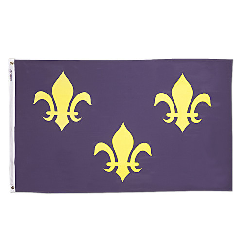 French Fleur de lis 3ft x 5ft Nylon Flag