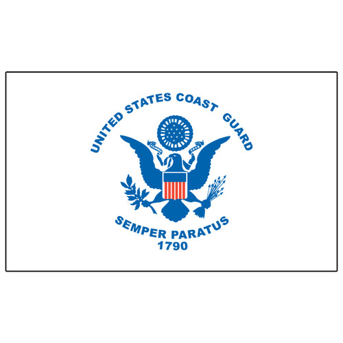 US Coast Guard Flag 3ft x 5ft Heavy Duty Spun Polyester