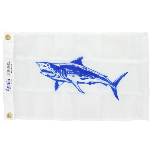 12in x 18in Nylon Mako Shark Flag