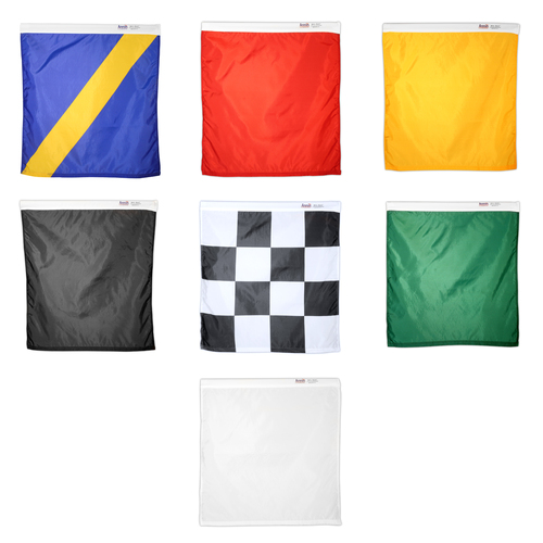 Set of 7 Nylon Racing Flags with Pole Band