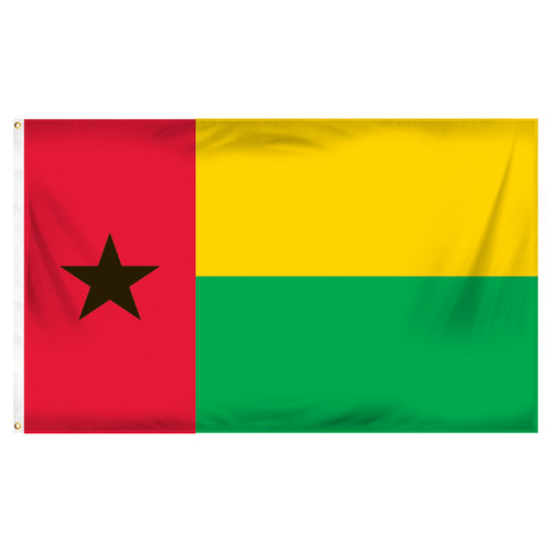 Guinea-Bissau Flag 3ft x 5ft Printed Polyester