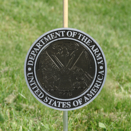 Army Grave Marker - Aluminum