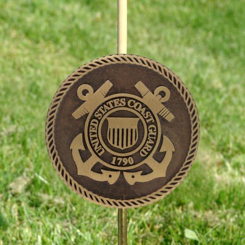 Coast Guard Grave Marker - Bronze