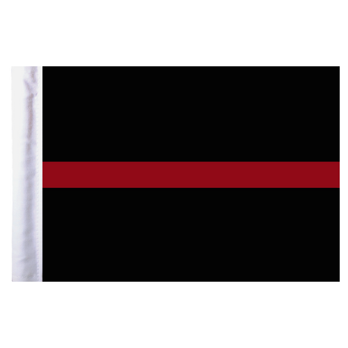 """Thin Red Line Motorcycle Flag - 6"""" x 9"""""""