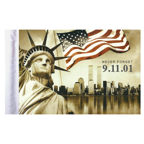 """9 11 Never Forget Motorcycle Flag - 6"""" x 9"""""""