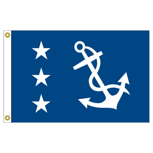 US Yacht Club Past-Commodore 12in x 18in Nylon Flag