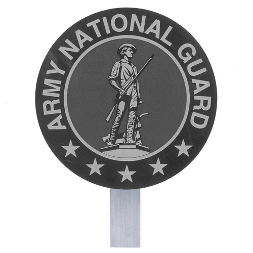 Army National Guard Grave Flag Holder