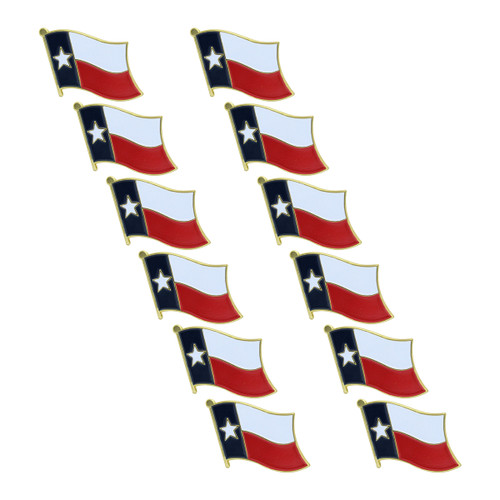 Texas Flag Lapel Pin - 12 Pack