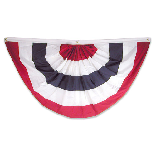 Super Tough Brand 3ft x 6ft Sewn Nylon Pleated Fan - NO STARS