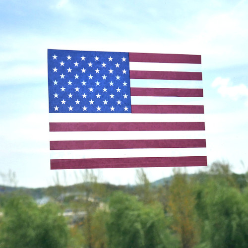 American Flag Vinyl Window Cling