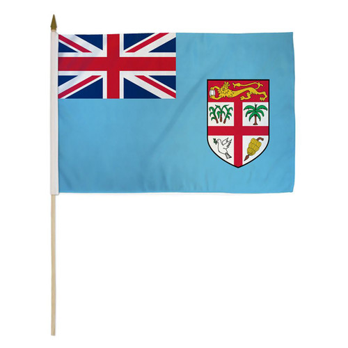 Fiji 12in x 18in Stick Flag