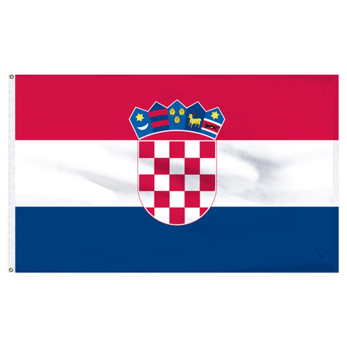 Croatia Flag 5ft x 8ft Nylon