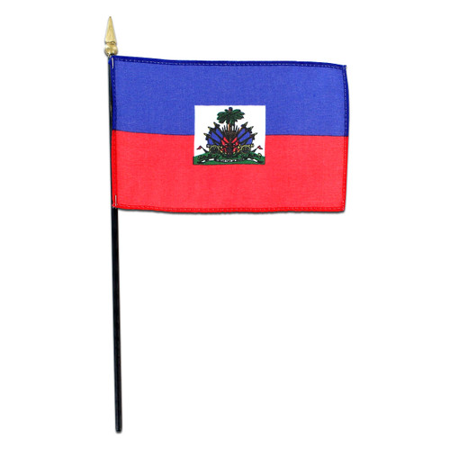 Haiti Flag 4 x 6 inch - With Seal